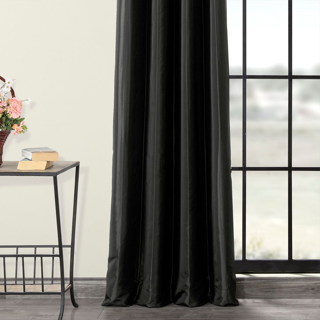 EFF Blackout Faux Silk Taffeta Window Curtain