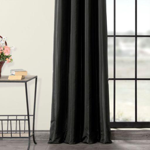 EFF Blackout Faux Silk Taffeta Window Curtain