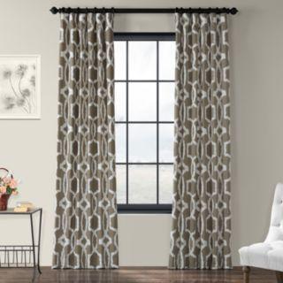 EFF 1-Panel Lyons Printed Window Curtain