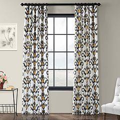 EFF 1-Panel Lumiere Printed Window Curtain
