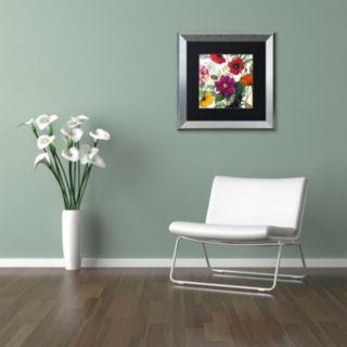 Trademark Fine Art Printemps III Silver Finish Framed Wall Art