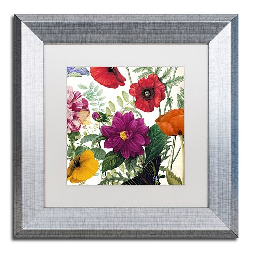 Trademark Fine Art Printemps III Silver Finish Framed Wall Art