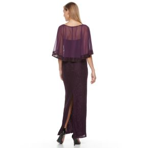 Women's 1 by 8 Sequin Popover Evening Gown