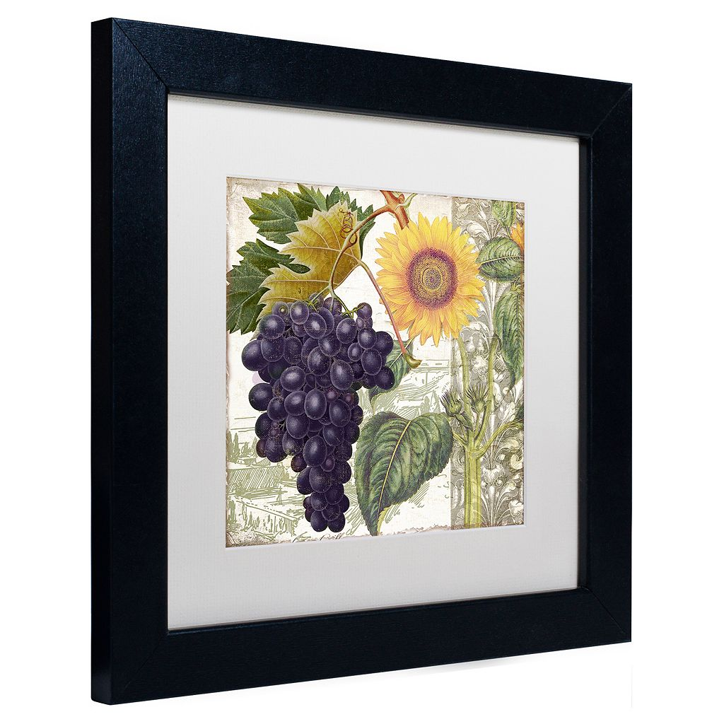 Trademark Fine Art Dolcetto I Black Framed Wall Art