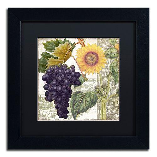 Trademark Fine Art Dolcetto I Black Framed Wall Art