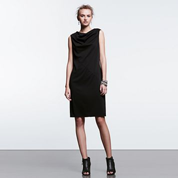 Women's Simply Vera Vera Wang Simply Noir Draped Shift Dress