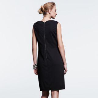 Women's Simply Vera Vera Wang Simply Noir Draped Shift Dress