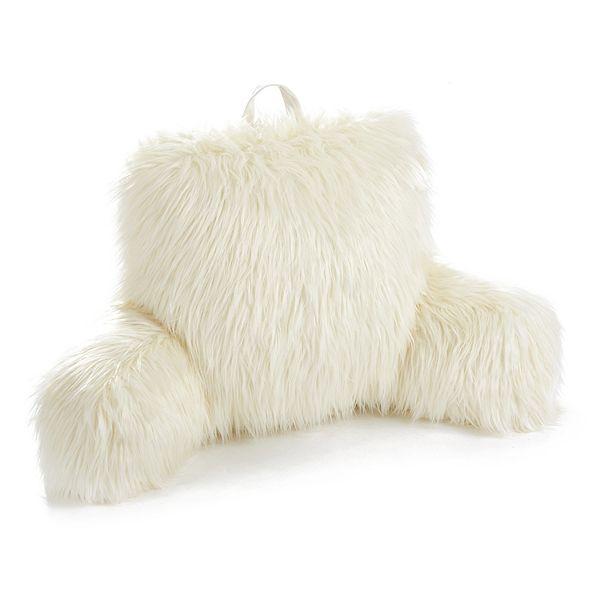 simple by design faux fur bed rest pillow