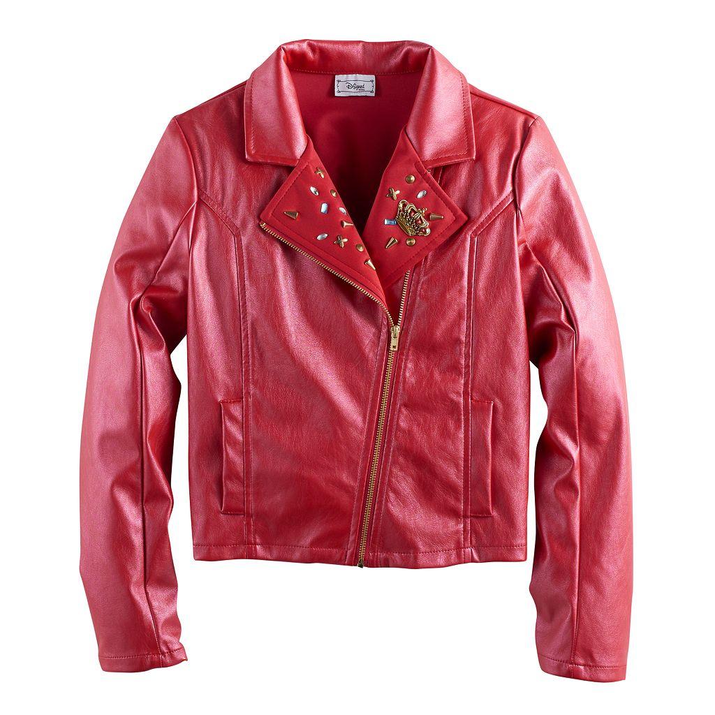 Disney D-signed Descendants 2 Girls 7-16 Faux-Leather Studded Moto Jacket