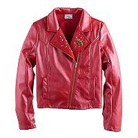 Disney D-signed Descendants 2 Girls 7-16 Faux-Leather Studded Moto Jacket