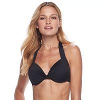 Women's Apt. 9® Twist-Front Halterkini Top