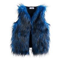 Disney D-signed Descendants 2 Girls 7-16 Blue Faux-Fur Vest