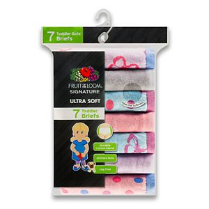 Toddler Girl Fruit of the Loom 7-pk. Stripes, Stars & Solids Signature Ultra Soft Briefs