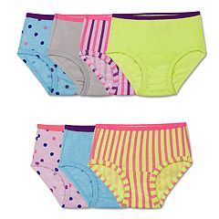 Toddler Girl Fruit of the Loom 7 pkStripes, Stars & Solids Signature Ultra Soft Briefs