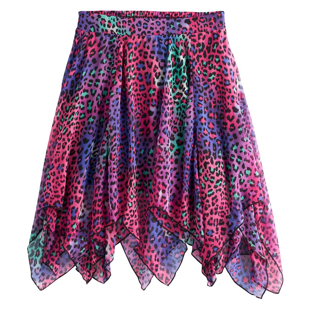 Disney D-signed Descendants 2 Girls 7-16 Animal Print Handkerchief Skirt
