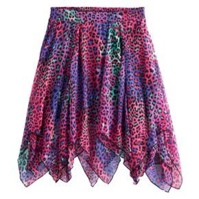 Disney D-Signed Descendants 2 Girls 7-16 Animal Print Handkerchief Skirt