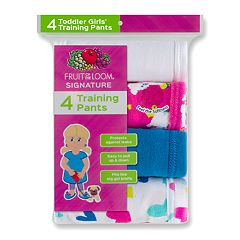 Toddler Girl Fruit of the Loom 4-pk. Training Pants
