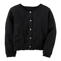 Toddler Girl Carter's Black Knit Cardigan