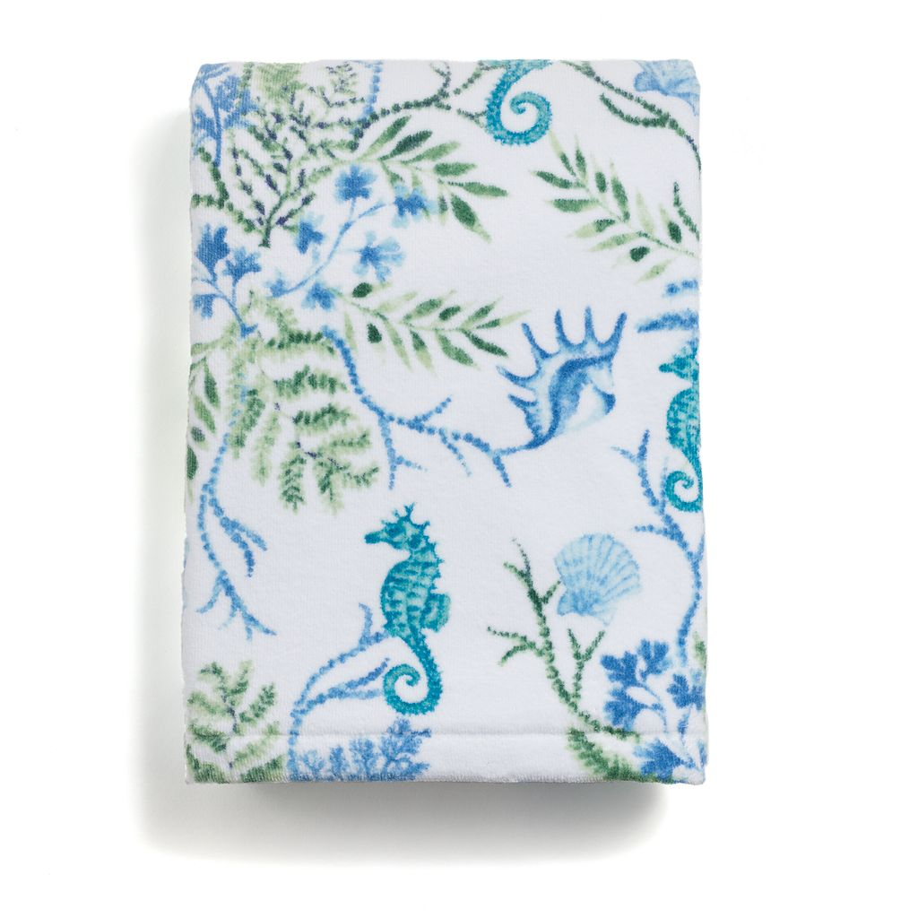 Destinations Pearl Seaweed Print Bath Towel