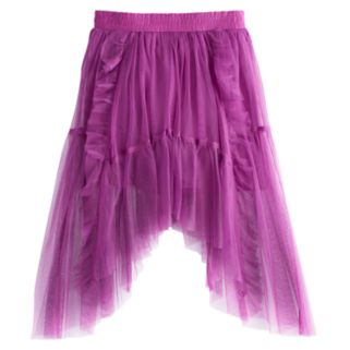 Disney D-signed Descendants 2 Girls 7-16 Ruffled Tulle Sharkbite Hem Skirt