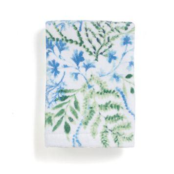 Destinations Pearl Seaweed Print Washcloth