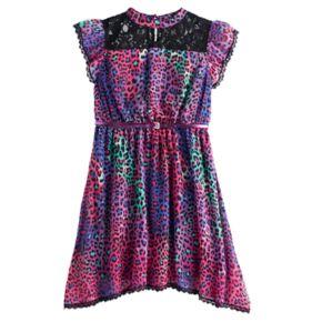 Disney D-Signed Descendants 2 Girls 7-16 Animal Print Mockneck Dress