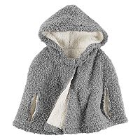 Toddler Girl Carter's Hooded Sherpa Poncho