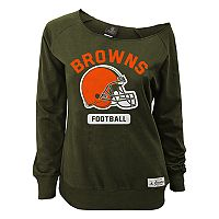 Women's Cleveland Browns Wide Receiver Off the Shoulder Sweatshirt