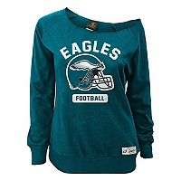 Juniors' Philadelphia Eagles Wide Receiver Off the Shoulder Sweatshirt
