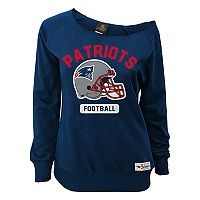 Juniors' New England Patriots Wide Receiver Off the Shoulder Sweatshirt