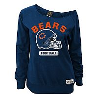 Juniors' Chicago Bears Wide Receiver Off the Shoulder Sweatshirt