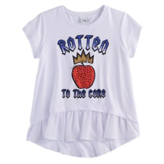 """Disney D-signed Descendants 2 Girls 7-16 """"Rotten to the Core"""" Embellished High-Low Tee"""