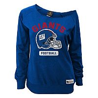 Juniors' New York Giants Wide Receiver Off the Shoulder Sweatshirt