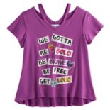 Disney D-signed Descendants 2 Girls 7-16 Be Bold Be Brave Cutout Tee