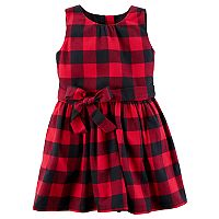 Toddler Girl Carter's Buffalo Check Flannel Dress