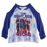 "Disney D-signed Descendants 2 Girls 7-16 ""The Right Side of Wrong"" Cold Shoulder Tee"