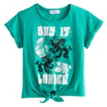 "Disney D-signed Descendants 2 Girls 7-16 ""Say It Louder"" Tie Front Tee"