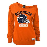 Juniors' Denver Broncos Wide Receiver Off the Shoulder Sweatshirt