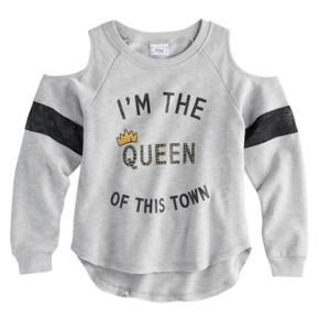 """Disney D-signed Descendants 2 Girls 7-16 """"I'm the Queen of this Town"""" Embellished Pullover Top"""