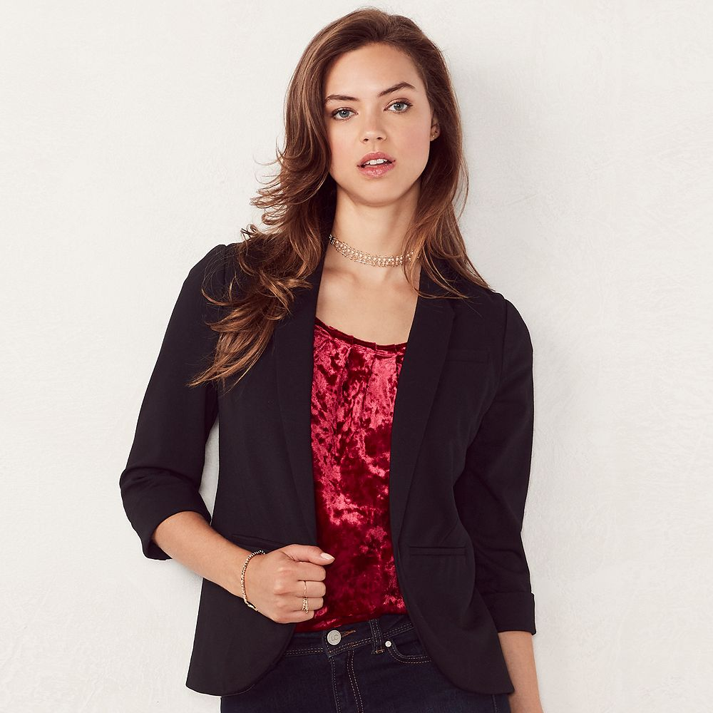 Womens Black Blazers & Suit Jackets - Tops, Clothing   Kohl's