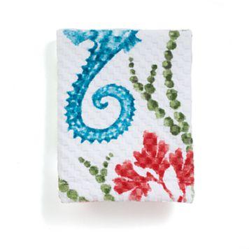 Destinations Sea Horse Print Washcloth