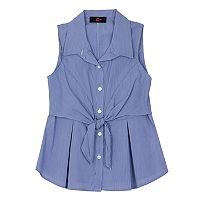 Girls 7-16 IZ Amy Byer Woven Tiered Tie Front Top