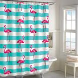 Destinations Pink Flamingo Shower Curtain