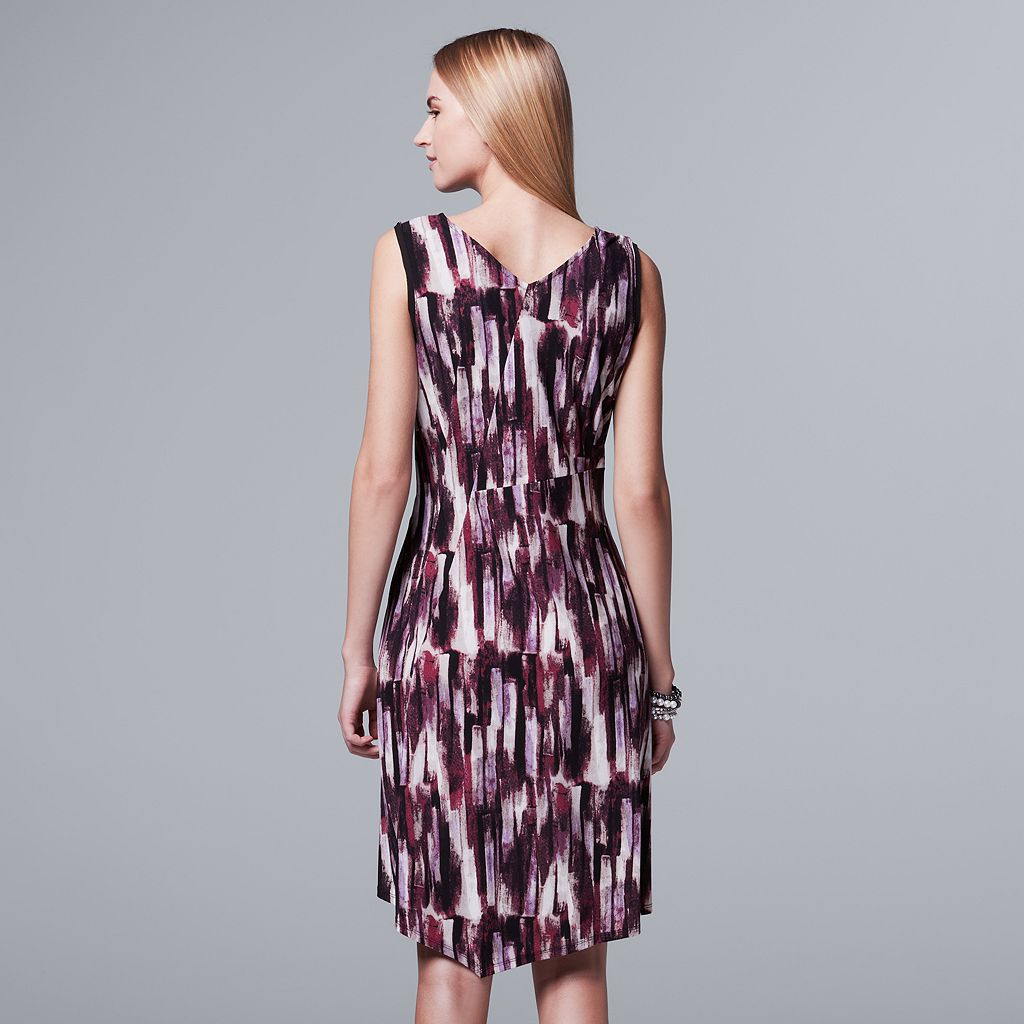 Women's Simply Vera Vera Wang Abstract Asymmetrical Dress