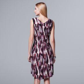 Women's Simply Vera Vera Wang Abstract Asymmetrical Dress