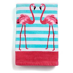 Destinations Pink Flamingo Bath Towel