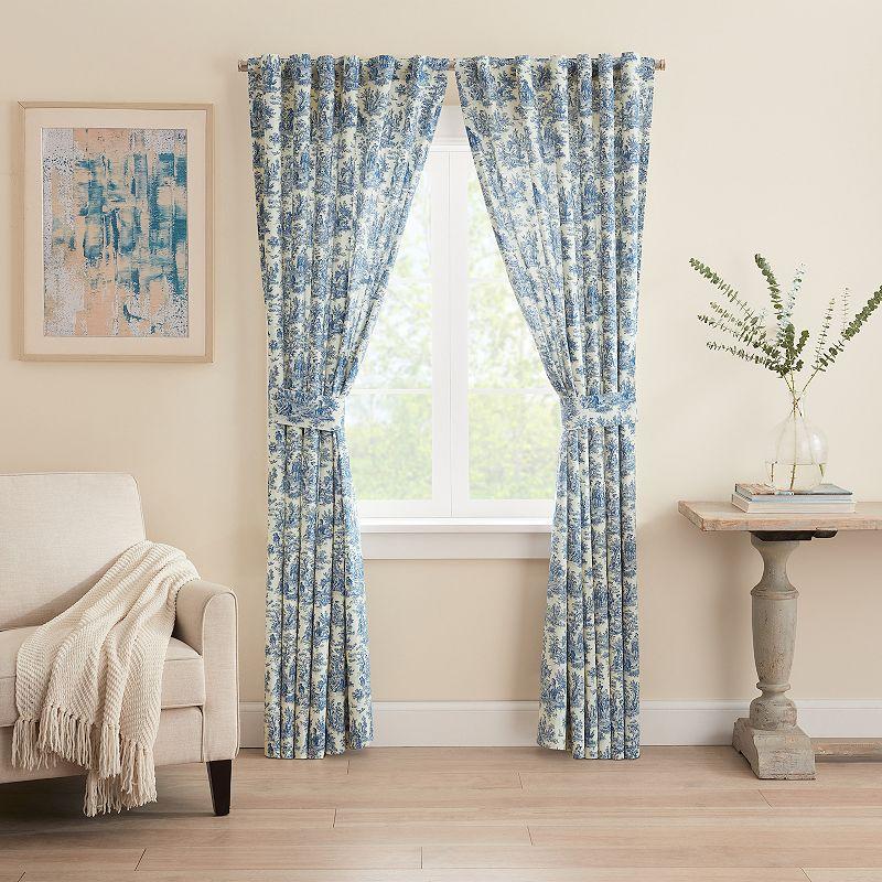 Waverly 1-Panel Charmed Life Window Curtain, Blue, 52X84