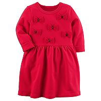 Toddler Girl Carter's Red Bow Knit Dress