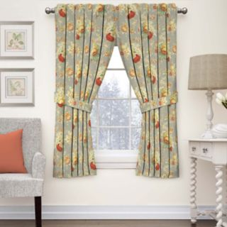Waverly 1-Panel Sanctuary Rose Floral Window Curtain