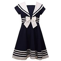 Girls 7-16 Bonnie Jean Nautical Collar Poplin Dress